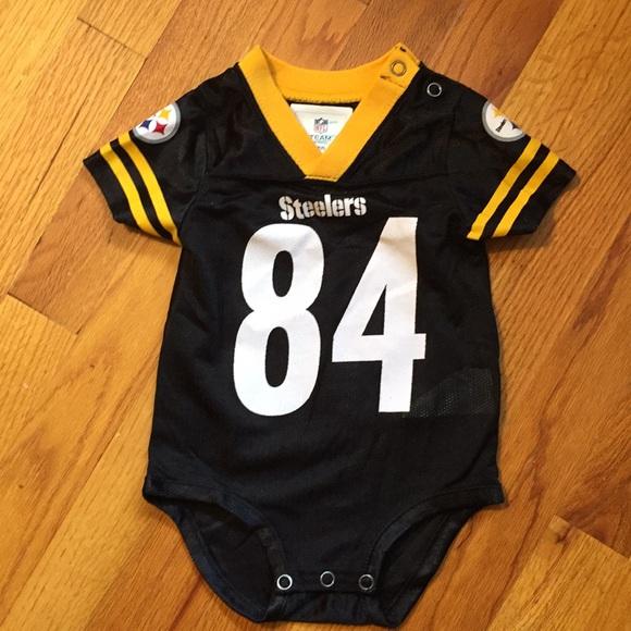 best loved c54ec 73525 NWOT Steelers Baby Onesie Brown 84 Jersey